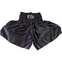 Thai Short , Thaiboxhose, Muay Thai Short, Muay Boran Hose, Kickboxhose in schwarz
