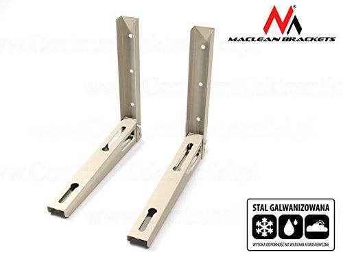 Maclean MC-621 Wandkonsole Wandhalter Wandhalterung Halterung Klimaanlagen Split Klimagerät Klimaanlage Stahl verzinkt Tragkraft 100kg