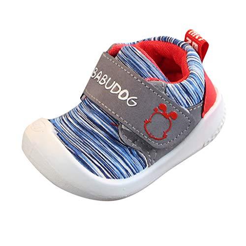Lazzboy Freizeitschuhe Krabbelschuhe, Kleinkind Kinder Baby Mädchen Jungen Mesh Sport Turnschuhe Laufen Schuhe Lauflernschuhe Fliegendes Atmungsaktiv Sportschuhe(Hellblau,19(18-24Months))