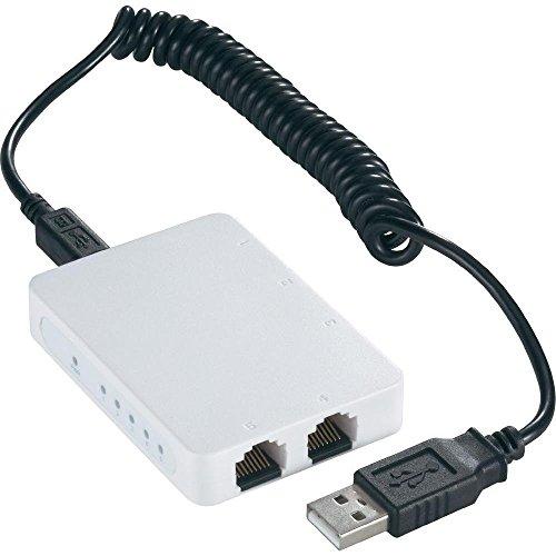 Netzwerk Switch RJ45 superflach mit USB-Stromversorgung 5 Port 100 MBit/s