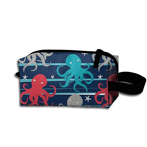 Colorful Octopus Women's Tolietry Bag Cosmetic Travel