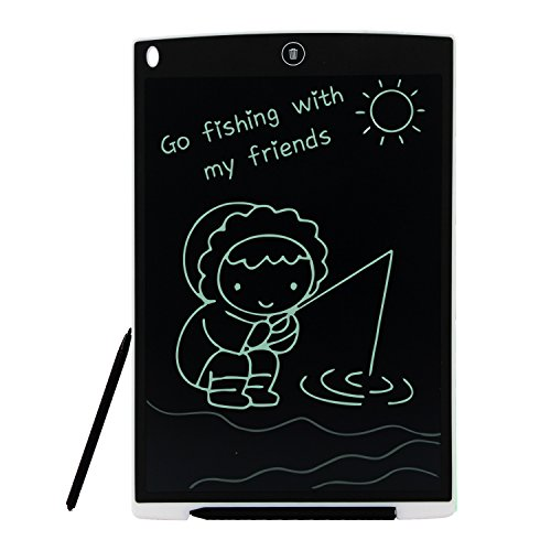 Tavoletta Grafica LCD 12 Pollici HUIXIANG Digitale Scrittura Tavola da Disegno eWriter Lavagna Eelettronica LCD Writing Tablet Drawing Pad Regalo per bambini, Insegnante, Studenti, Progettista, Bianco