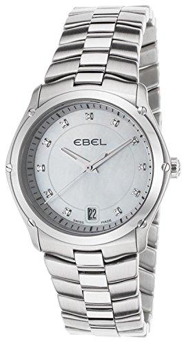 Ebel Women's Classic Sport 32mm Steel Bracelet & Case S. Sapphire Swiss Quartz White/MOP Watch 1215986