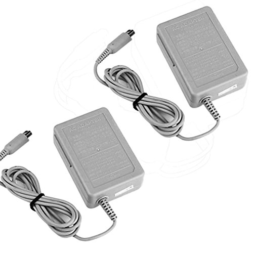 Upxiang 2 Stück Wechselstrom Ladegerät Power Adapter, Startseite Wand Reise Ladegerät Netzteil Kabel für Nintendo DSi NDSi 3DS XL US - Wechselstrom-wand-ladegerät-adapter