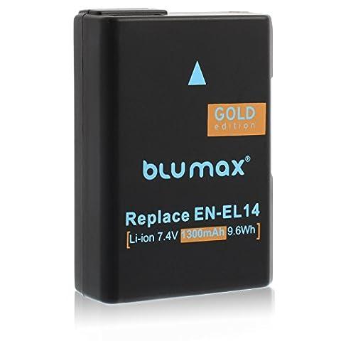 Blumax 60421_ Set professionnel pour Nikon EN EL de 14Gold Edition