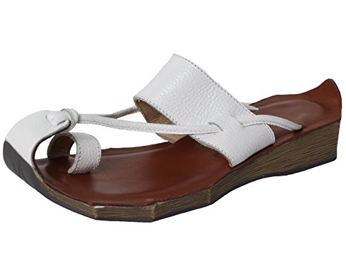 Vogstyle Donna Pantofole Estive Di Stile Boemia Bianco