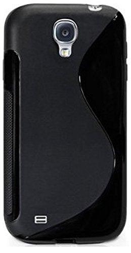 Neu InventCase® SCHWARZ S Line Wave Silikon Schutzhülle Case Cover TPU Gel Skin mit Displayschutzfolie für das neue Samsung Galaxy S4 i9500 Line Wave Tpu Case