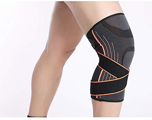 LANGYINH Kniebandage-Klammer - (2er Pack), Patella Stabilizer - Hilfe bei Meniskusrissverletzung Erholung ACL-Schmerzlinderung,2,L