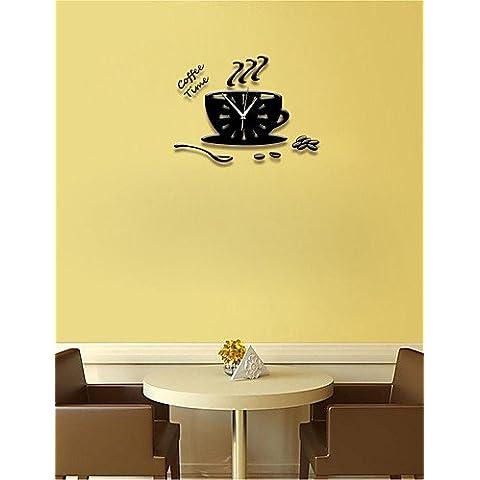 Da Wu Jia wall art Creative 3D Mug orologio puntatore Ultra-quiet acrilico Orologio a parete camera da letto soggiorno , 12