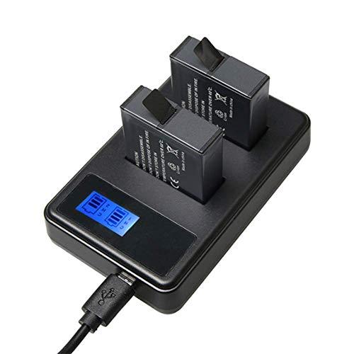 YWT 2Pcs Batería Portátil Rápido 1220mAh Cámara