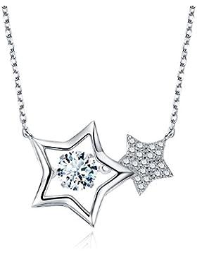 STAR SANDS unendlichen Sterne Tanzen Diamant-Halskette gemacht mit 6mm AAA Zirkonia -925 Sterling Silber -Suspension...