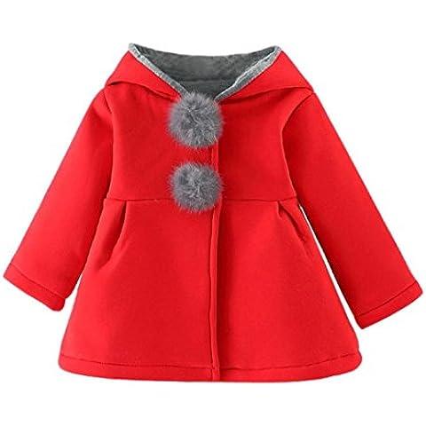 Koly Chaqueta de abrigo de invierno de las niñas infantiles de bebé gruesa ropa de abrigo