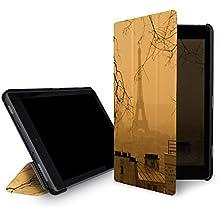 caseable Fire 7 - custodia (tablet 7 pollici, settima generazione - 2017) la custodia standing e leggera per il nuovo tablet Amazon Fire 7 con l'elegantissimo design: Paris