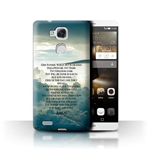 Stuff4® Hülle/Case für Huawei Ascend Mate7 / The Lord's Prayer Muster/Christliche Bibel Vers Kollektion