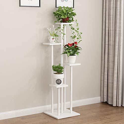 Porte Plante Étagère en fer à fleurs rangement multifonctionnel étagère à fleurs vert plante présentoir blanc Étagères à fleurs (taille : 40 * 40 * 140cm)