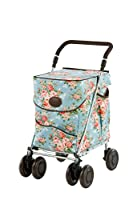 Sholley Petite Deluxe Jackie Clover Edition Shopping Trolley in Blue