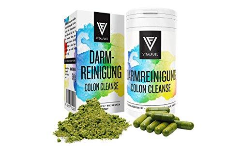 Vitalfuel® - Colon Cleanse { Darmreinigung } Kapseln, zur natürlichen Darmsanierung, Darm Kur mit vielen Kräutern, Gewürzen für mehr Wohlbefinden