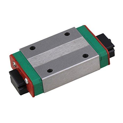 Preisvergleich Produktbild cnbtr Mini Kugellager Stahl Verlängerung Linear Schiebetür Führungsschiene Schiene Block silber für präzise Messung Equipment, schwarz