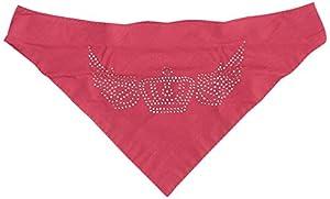 "Karlie - 31925 - Bandana rose avec motif ""couronne"" - 50-65 cm"