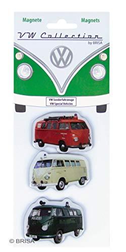 Brisa VW Collection Magnete 3er Set VW Bus T1 Motiven - Sonderfahrzeuge - Vintage Collection Epoxy