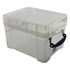 Really Useful 245 x 180 x 160mm 3L Box with Lid - Clear