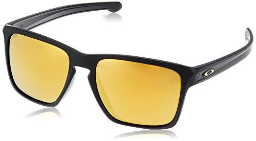 Oakley Men's Sliver Xl (a) Non-Polarized Iridium Square Sunglasses, Matte Black, 57.02 mm