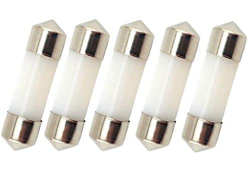 Bonlux 5-Satz 31MM LED Auto-Innenhaube-Girlande-Glühlampe-kühles Weiß 600K 12 Volt 1 Watt T3 Girlande-LED-Wiedereinbau-Navigationsbirne für Masthead / Stern-Licht / Navigationslichter / Anker-Lampe