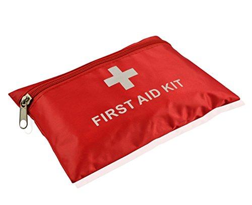 Mini First Aid Kit, 92 Pieces Small First Aid Kit – Includes Emergency Foil Blanket, Scissors for Travel, Home, Office…