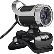 كاميرا ويب USB HXSJ LG-68 لكاميرا ويب USB مدمج ماص للصوت ومكبرات فيديو ومكالمات للكمبيوتر المحمول أسود+فضي