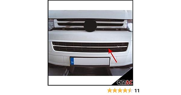 Vordere Zierleiste Für T5 Transporter Multivan 2010 2015 1 Teileg Aus Edelstahl Chrom Auto