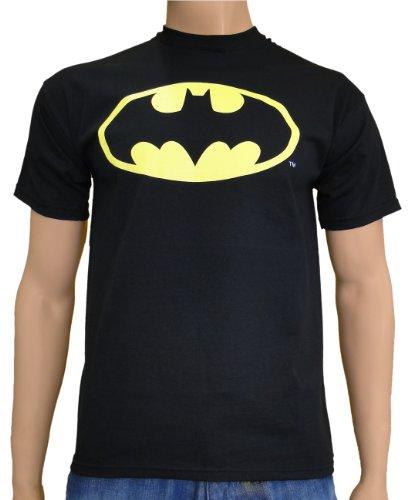 Classic Batman Logo T-shirt (Batman - Dark Knight Logo Classic T-Shirt Black, L)