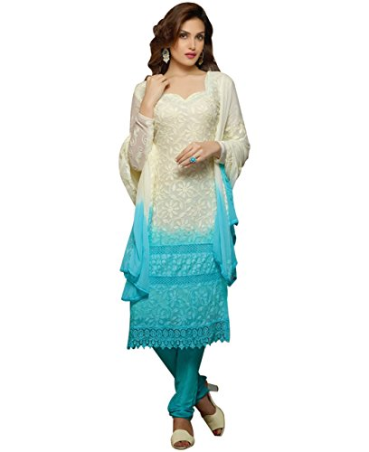 Reeva Trendz Women\u2019s full stitched Salwar Suit Dress Material/Embroidered Nazneen Crepe Material