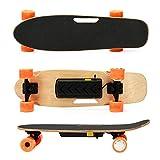 ZJY Skateboard Elettrico - Motore brushless hub Acero Potente a 7 Strati con Lega di Alluminio Resistente al Telecomando Senza Fili - per pendolarismo all'aperto
