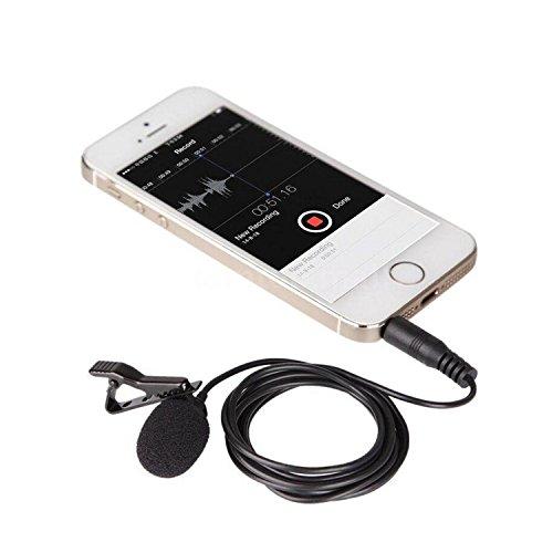 BOYA BY-LM10 smartphone omnidireccional lavalier micrófono de condens