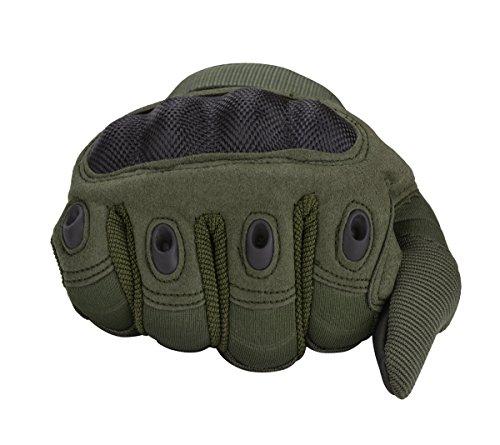 Coofit Sport Handschuhe Winter Motorrad Handschuhe Herren Vollfinger Gloves Biking Skifahre Handschuhe (Grün, L) - 7