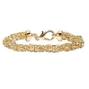Toscana Bracelet maille byzantine - doré - 22,8 cm