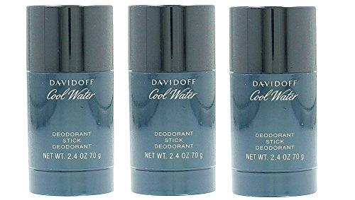 Davidoff Cool Water Deodorante Stick (3X 75ML) Confezione da Man/Uomo
