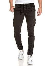 Gov Denim - Jean noir slim avec poches cargo