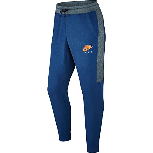 Preisvergleich Produktbild Nike mens M NSW JGGR FLEECE AIR 861626-433_L - BLUE JAY/ICED JADE/TOTAL ORANGE
