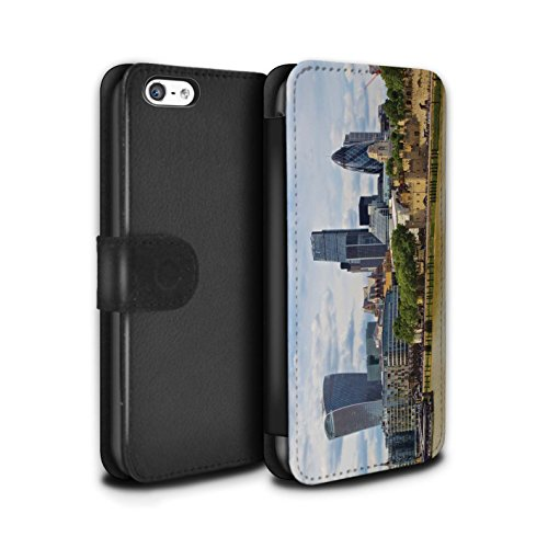Stuff4 Coque/Etui/Housse Cuir PU Case/Cover pour Apple iPhone 5C / Tower Bridge Design / Sites Londres Collection Cité de Londres
