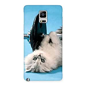 Enticing Fit Cat Multicolor Back Case Cover for Galaxy Note 4
