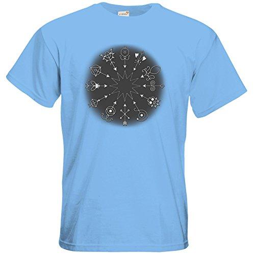 getshirts - Das Schwarze Auge - T-Shirt - Götter und Dämonen - Dämonenkreis Sky Blue