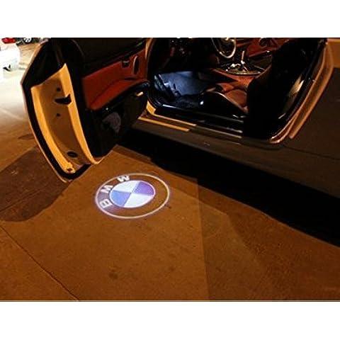 2pcs LED Auto Logo Laser Logo BMW a LED luce lampada proiettore benvenuto ombra per BMW