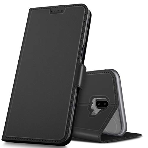 GeeMai Samsung Galaxy J6 Plus Hülle, Samsung Galaxy J6+ Leder Hülle Flip Case Wallet Stylish mit Standfunktion & Magnetisch Ledertasche Schutzhülle handyhüllen passt für Samsung Galaxy J6 Plus phone