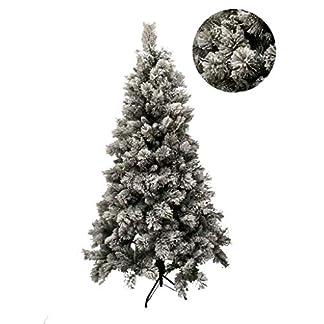 SZ Árbol de Navidad Nevado, con Nieve – Decoración Hogar – 4 Tamaños (180)