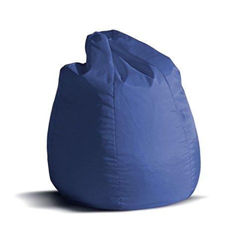 Pouf poltrona sacco piccola BAG Jive tessuto tecnico antistrappo blu royal  imbottito – Avalon