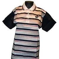 Lotto Poloshirt Thomas Junior E, Jungen, weiß / marineblau / rot / grau