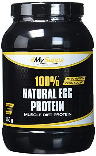 My Supps 100{bed6f171f331bca3607968f94dc47cd121b89861b65b899d67a3d222bcbb773f} Natural Egg Protein, 1er Pack (1 x 0.75 kg)