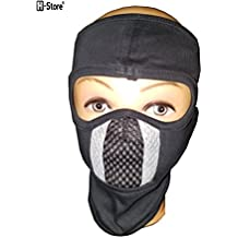 H-Store Ninja Black With Grey & Black Filter Bike Riders Anti Pollution Dust Sun Protection Full Face Cover Mask Bike Riders (Black)