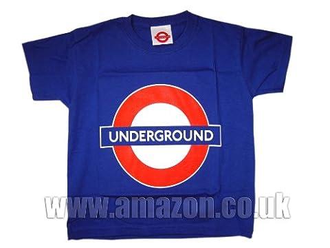 London Transport métro de London - T-shirt souterrain Cocarde enfants (10-12 ans)